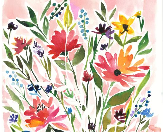 Textile design flowers